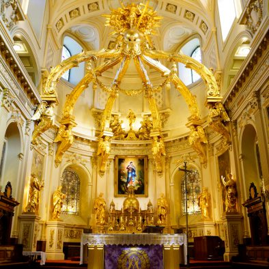 Basilica-Cathedral Notre-Dame-de-Québec indoor view