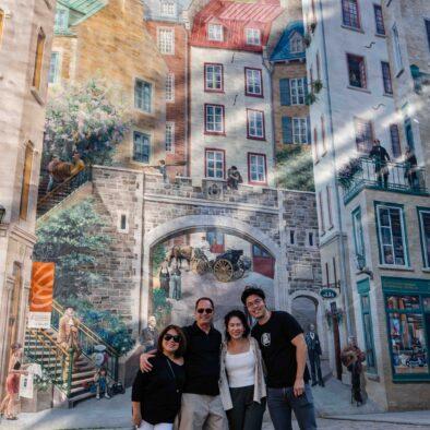 Quebec City Mural, Quebec City, Canada. City Tour with HQ Services toURISTIQUES iNC